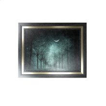 Lonely Night Textured Framed Print