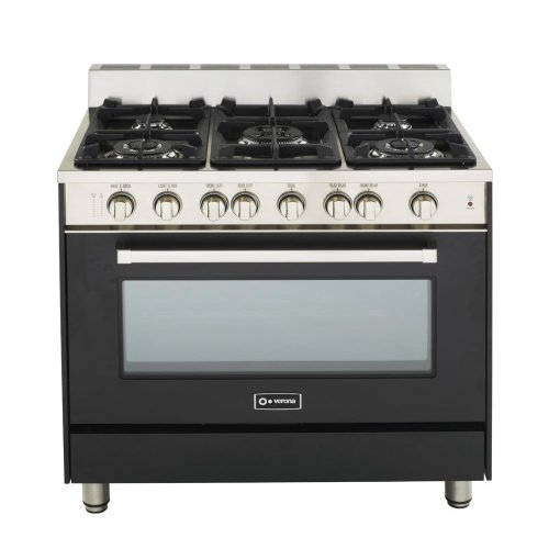 """Matte Black 36"""" Gas Range with Single Oven"""