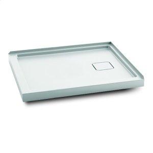 """Rectangular acrylic shower base 48"""" x 32"""" - Right drain Product Image"""