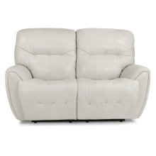 Blaise Leather Power Reclining Loveseat with Power Headrests