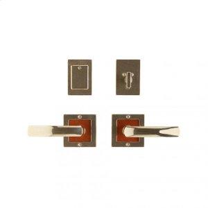 "Square Designer Entry Set - 3"" x 3"" Silicon Bronze Brushed with Basic Product Image"