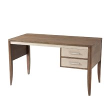 Fitzgerald Writing Table - Mangrove, Overcast & Polished Nickel