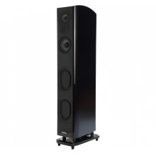 Superior performance floor-standing tower in Midnight Mahogany