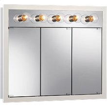 "36""W x 30""H - Classic White/Lighted Cabinet"