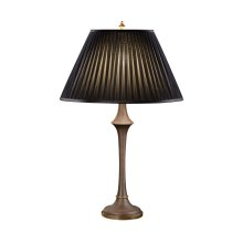 Heavily textured baluster table lamp