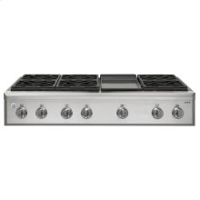 """GE Cafe™ Series 48"""" Professional Gas Rangetop with 6 Burners and Griddle (Natural Gas)"""