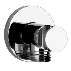 "Wall elbow with built in water intake and fixed hook, 1/2"" connections Product Image"