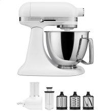Exclusive Artisan® Series Stand Mixer & Fresh Prep Attachment Set - Matte White