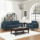 Empress Armchair and Sofa Set of 2 in Azure Product Image