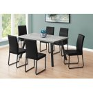 """DINING CHAIR - 2PCS / 38""""H / BLACK LEATHER-LOOK / BLACK Product Image"""