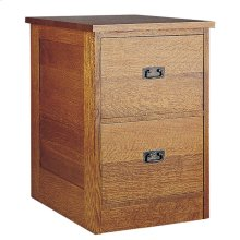 Oak Two Drawer File Unit