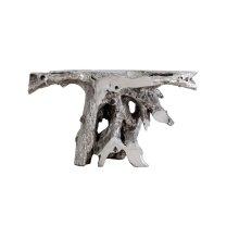 Brivo Freeform Console Table, Silver Leaf