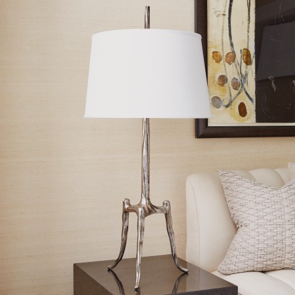Trident Table Lamp-Antique Nickel