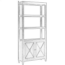 Atlas Bookcase, Burnt Brown Oak
