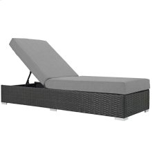 Sojourn Outdoor Patio Sunbrella® Chaise Lounge in Canvas Gray