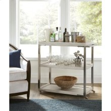 Lilly - Tray-top Bar Cart - Champagne Finish
