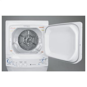 GE Unitized Spacemaker® 3.2 DOE cu. ft. Washer and 5.9 cu. ft. Gas Dryer
