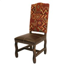 Medio Laquer Cloth & Leather Side Chair