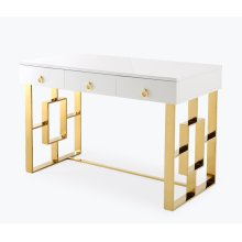 Audrey White Lacquer Desk