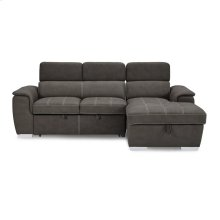 2-Piece Sectional with Pull-out Bed and Hidden Storage