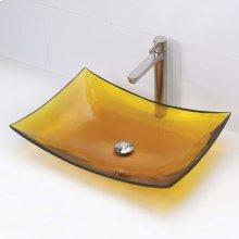 Darya Rectangular Above-counter Bathroom Sink - Honeycomb