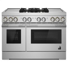 """RISE 48"""" Dual-Fuel Professional Range with Dual Chrome-Infused Griddles"""