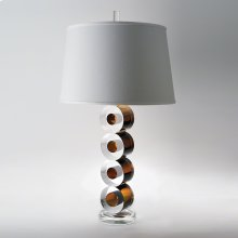 Leonardo Lamp-Brown w/Silk Shade