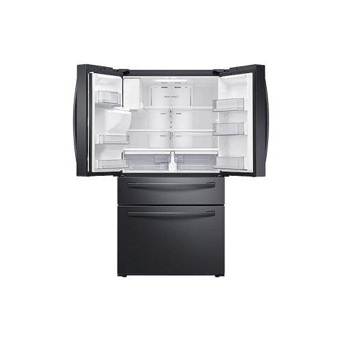 23 cu. ft. Counter Depth 4-Door French Door Refrigerator with FlexZone Drawer in Black Stainless Steel