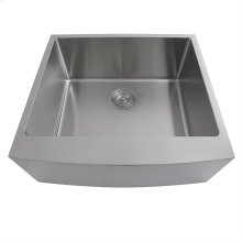 24 Inch Pro Series Single Bowl Farmhouse Apron Front Stainless Steel Kitchen Sink