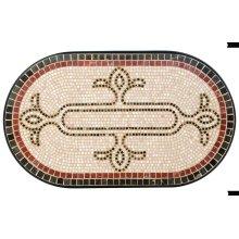 "Orvieto 72"" Oval Table Top w/ umbrella hole"
