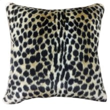 LEO HIDE PILLOW  Faux Hair on Hide- Cheetah  Poly Fill