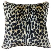 LEO HIDE PILLOW  Faux Hair on Hide- Cheetah  Poly Fill