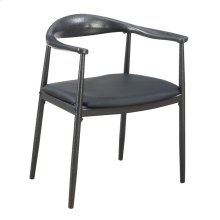 Black Metal Arm Chair
