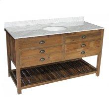 Reclaimed Pine 2-Drawer Vanity