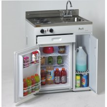 """30"""" Complete Compact Kitchen with Refrigerator"""