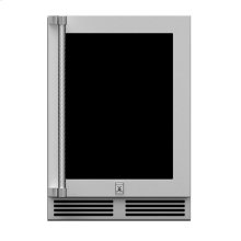 "24""outdoor Dz Refrig. W/wine,glass Door,w/lock, Lft. Hinged."