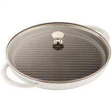 """Staub Cast Iron 10"""" Round Steam Grill, White"""