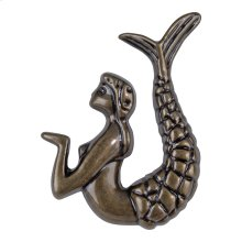 Mermaid Knob Right 2 1/2 Inch - Burnished Bronze