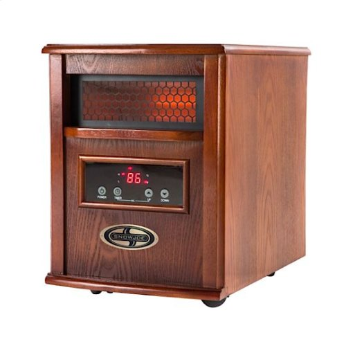 Snow Joe SJQH1500-DO Glo Infrared Quartz Heater  1500 Watt  4 Quartz  Digital Thermostat  Timer
