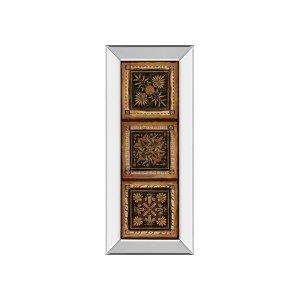 Folk Art Panel I By Tava Studios (mirrored Frame)