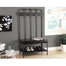 "BENCH - 60""H / CHARCOAL GREY METAL HALL ENTRY"