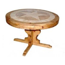 "60"" Round Marble Table W/star"
