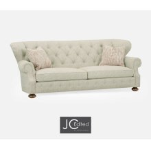 "98 1/4"" Casual Golden Ale Sofa, Upholstered in Marker"