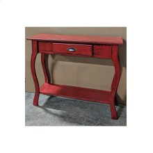 Foyer Table - Vintage Berry over Black