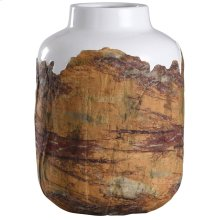 Canyon  10in X 14in Rustic Textured Ceramic Vase