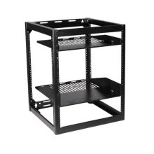 "26"" Tall AV Rack 15U Stackable Skeleton Rack"