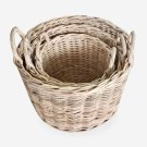 """Callie Round Basket Set of 3 - Natural (19""""x19""""x18"""") Product Image"""