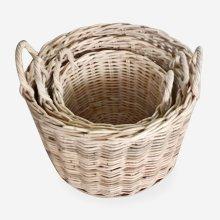 """Callie Round Basket Set of 3 - Natural (19""""x19""""x18"""")"""