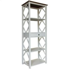 Book Shelf, Available in Hampton White or Hampton Grey Finish.