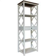 Book Shelf, Available in Hampton White or Hampton Grey Finish.